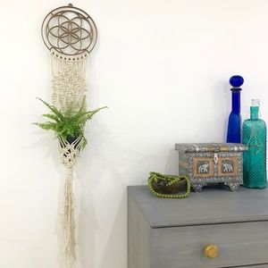Macrame Planter Hanging Meditation Sacred Geometry